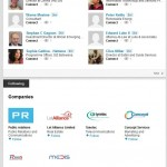 Possibly fake LinkedIn profile with few but diverse professional interestd.